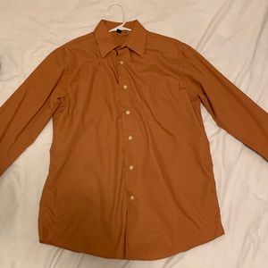 Orange Croft's & Barrow Long Sleeve Button Up (S)